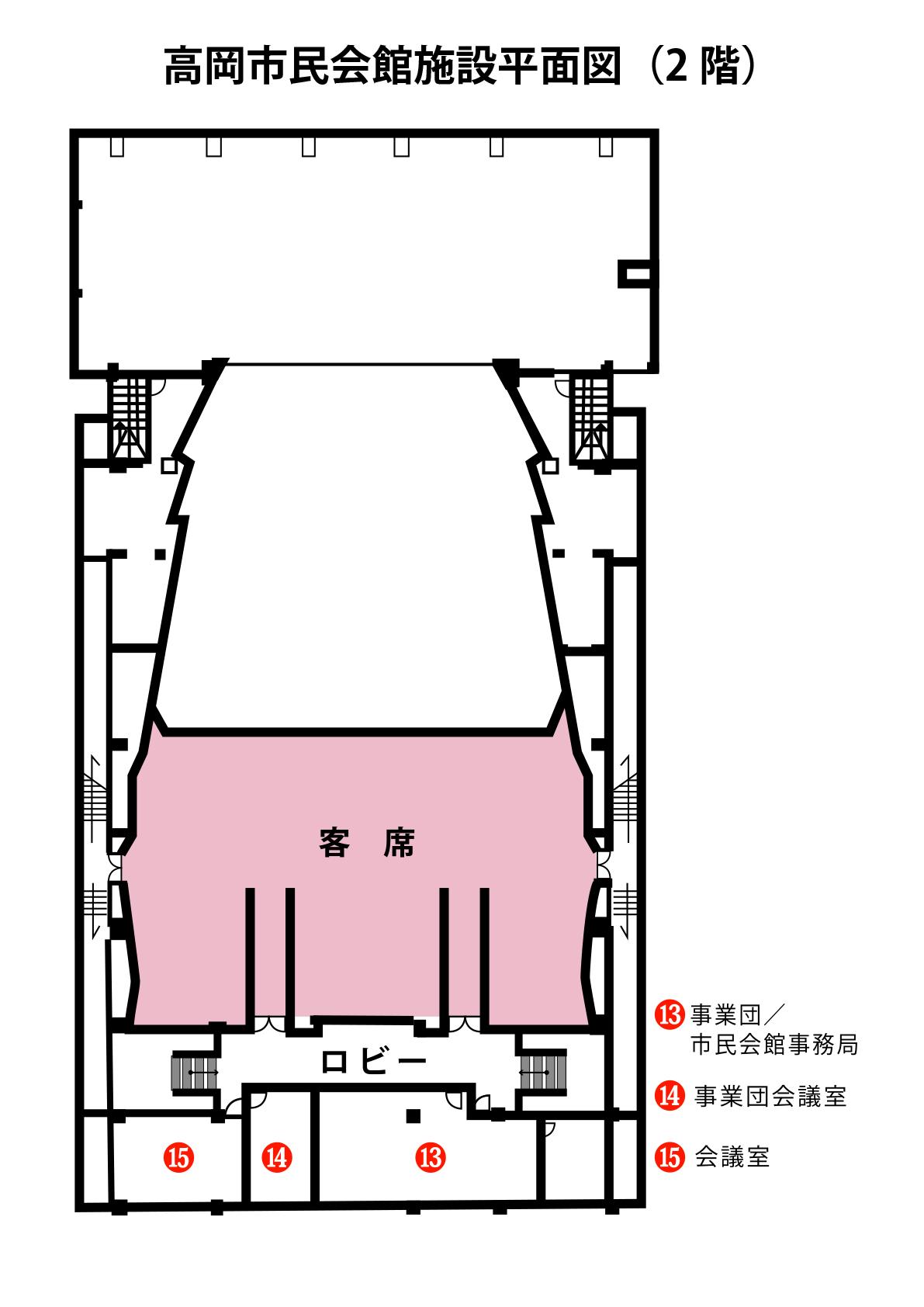 施設概要 - 観客席図